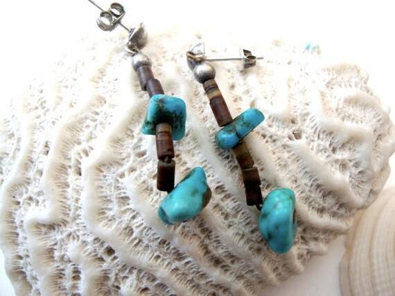 Sale 90% off Blue Stacks vintage earrings