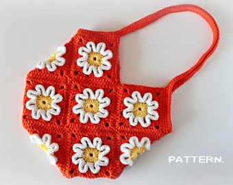 Crochet Pattern - Crochet 3D Flower Purse (Pattern No. 016) - INSTANT DIGITAL DOWNLOAD