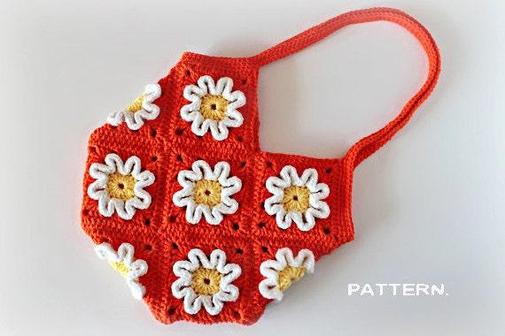 Crochet Pattern - Crochet 3D Flower Purse (Pattern No. 016) - INSTANT DIGITAL DOWNLOAD