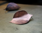 Copper Leaf Earrings-Rustic Copper Earrings-Boho Chic Jewelry