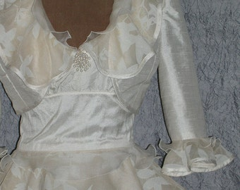 White Bolero Jacket, Cream Bolero Jacket, White Wedding Jacket, Wedding Bolero