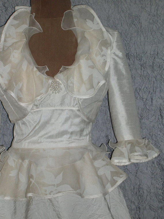 White Bolero Jacket, Cream Bolero Jacket, White Wedding Jacket, Wedding Bolero