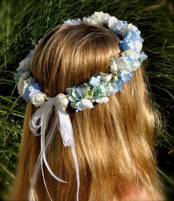 Amato Comunione prima comunione fiori matrimonio bianco e blu HG41