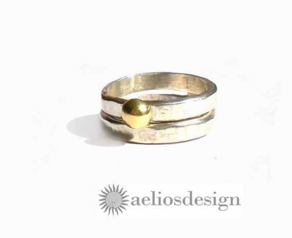 Stackable Recycled Wedding Ring Sterling Silver Bronze or Gold