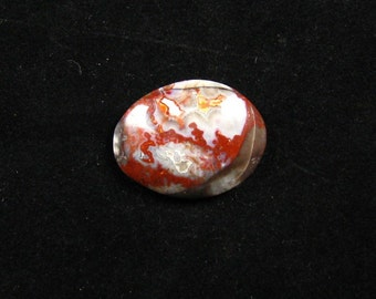 Red and Yellow Moss Agate Cabochon  C0040
