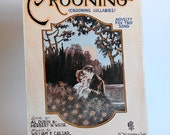 Art Nouveau Antique Love Song Sheet Music for Piano or Organ Crooning Lullabies