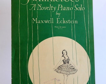 Vintage Piano Sheet Music Twinkletoes of Boston Music Co