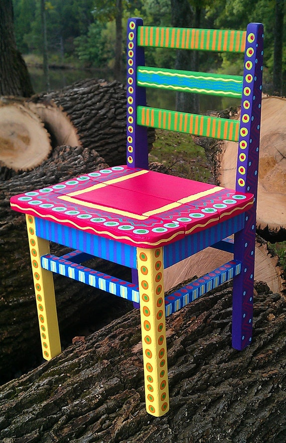 Hand Painted Childs Chair