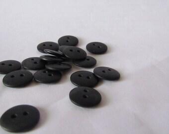 Black Vintage Buttons - Set of 17