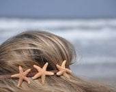 Triple Starfish Headband Three Starfish on Elastic Headband Hippie Headwrap