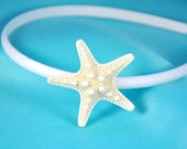 Starfish Headband, White Starfish on White Headband or any other color you like. So elegant