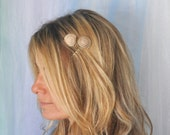 Sea Shell Hair Bobby Pins Sundial Shell Tan and Brown so pretty and detailed by Shepherdofthesea on etsy