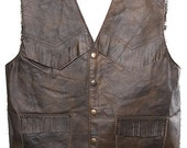 Leather waistcoat for children