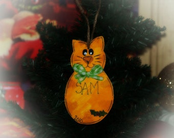 Personalized Ornament Cat Christmas Country Decoration CATS