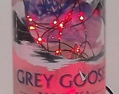 SALE~~~Unique Grey Goose Bar/Table Bottle LED Red Lights Accent Lamp-AWESOME