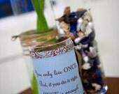 PERSONALIZED/CUSTOM Handmade adjustable wraps for bottles, candles, vases, jars, etc.