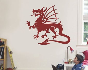 Dragon Wall Decal Boy Girl Bedroom Decor Vinyl Wall Sticker Large