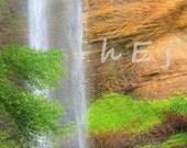 "Home Decor Waterfall Photograph 8X12 ""Toccoa Falls Layered No.2"""