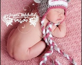 Baby Crochet Sock Monkey Hat Photography Prop Halloween Costume - Treasured Little Creations