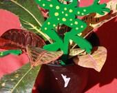 HAPPY Frog Plant Stake Companion / Home Decor