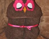 Sleepy Owl Hooded Towel