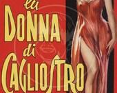 Lu Donna Di Cagliostro - 10x16 Giclée Canvas Print of a Vintage Pulp Paperback cover