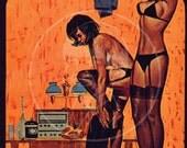 Pleasure House - 10x16 Giclée Canvas Print of Vintage Pulp Paperback