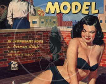 Confessions of an Artists' Model - 10x14 Giclée Canvas Print of a Vintage Pulp Paperback Cover