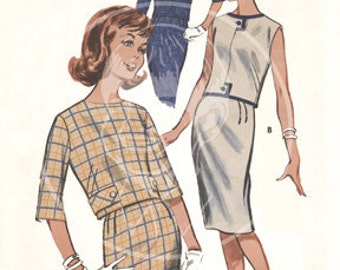 Vintage Dress Pattern Illustration (9687) - 10x15 Giclée Canvas Print