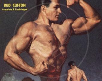 Muscle Boy - 10x15 Giclée Canvas Print of a Vintage Pulp Paperback Cover