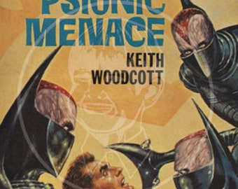 The Psionic Menace - 10x15 Giclée Canvas Print of a Vintage Pulp Paperback Cover