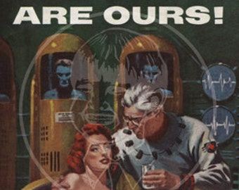 The Stars Are Ours - 10x15 Giclée Canvas Print of a Vintage Pulp Paperback Cover