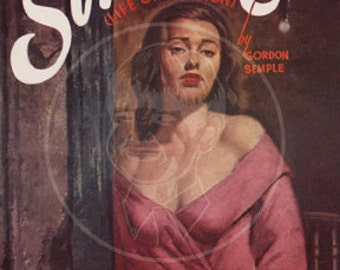 Sinner - 10x14 Giclée Canvas Print of a Vintage Pulp Paperback Cover