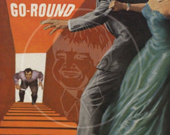 Miami Murder-Go-Round - 10x15 Giclée Canvas Print of a Vintage Pulp Paperback Cover
