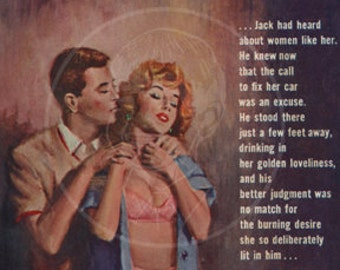 Boy Lover - 10x17 Giclée Canvas Print of Vintage Pulp Paperback