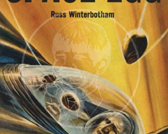 The Space Egg - 10x17 Giclée Canvas Print of Vintage Pulp Science Fiction Paperback
