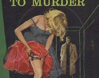Bloodline to Murder - 10x15 Giclée Canvas Print of Vintage Pulp Paperback