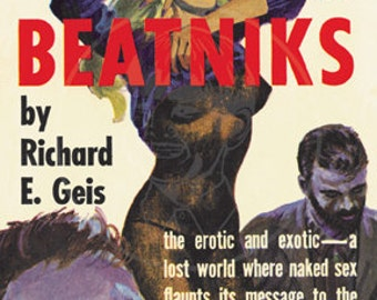 The Beatniks - 10x15 Giclée Canvas Print of Vintage Pulp Paperback