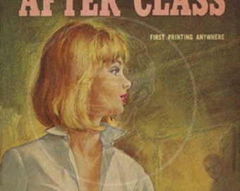 After Class - 10 x 17 Giclée Canvas Print of Vintage Pulp Paperback