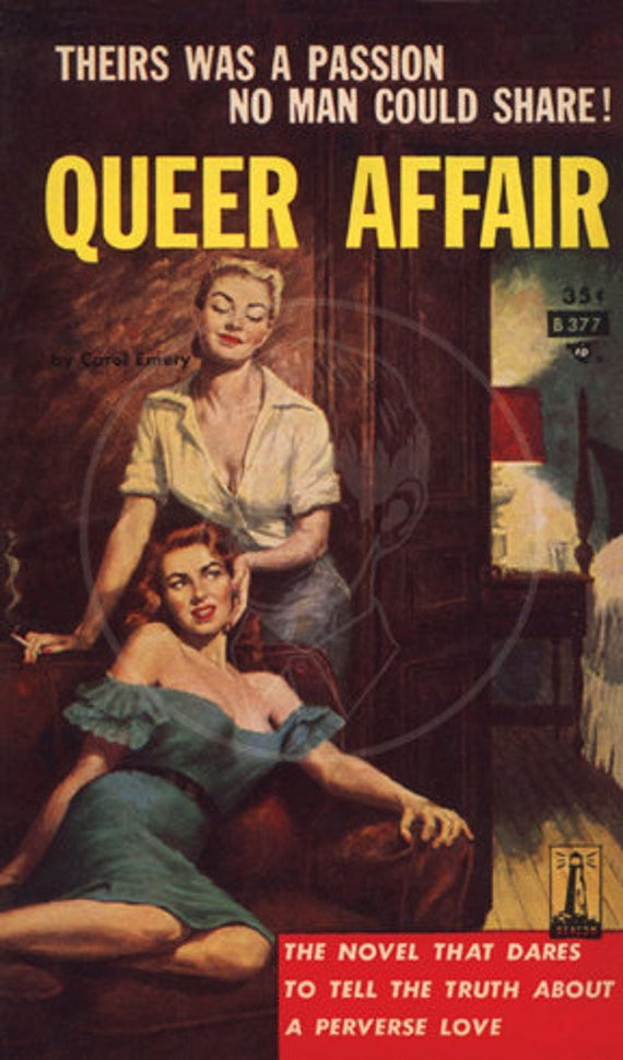 Queer Affair - 10x17 Giclée Canvas Print of a Vintage Pulp Paperback Cover
