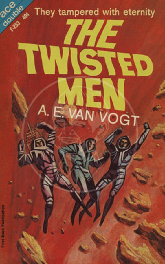 The Twisted Men - 10x16 Giclée Canvas Print of a Vintage Pulp Paperback Cover