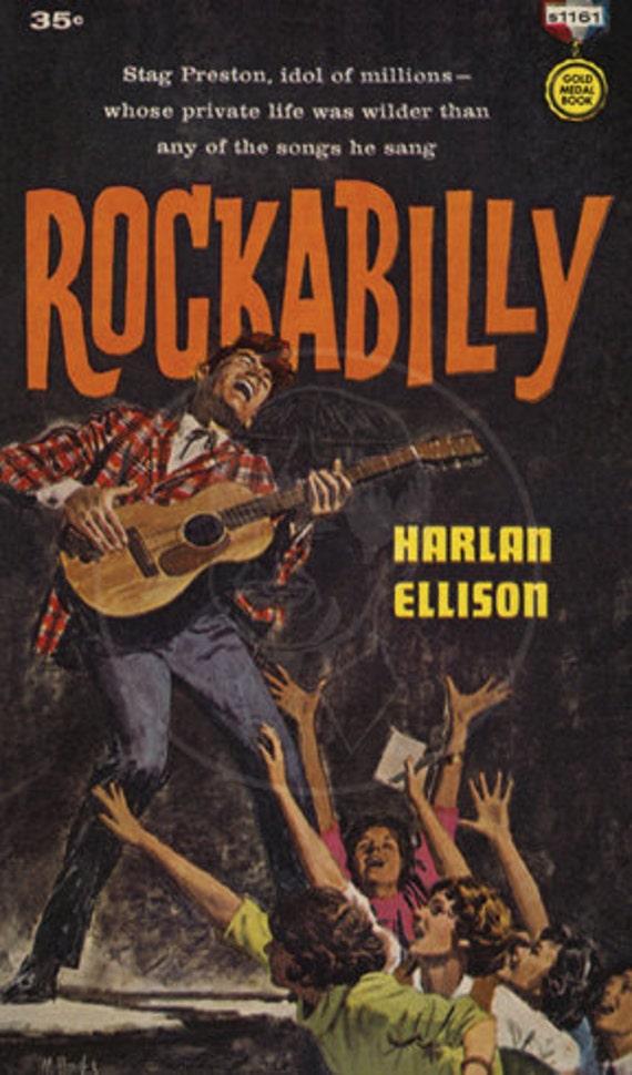 Rockabilly - 10 x 17 Giclée Canvas Print of Vintage Pulp Paperback