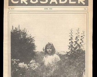 National Women's Christian Temperance Union Magazine for Children from 1930s The Young Crusader Vintage Magazine