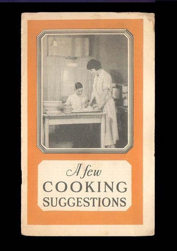 Vintage Cooking Booklet 1920s Vintage Culinary Pamphlet of Recipes from Proctor and Gamble, Crisco Promotional Booklet