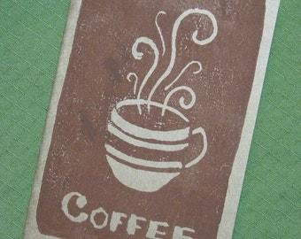 """Block printed """"Coffee"""" Moleskine pocket notebook"""