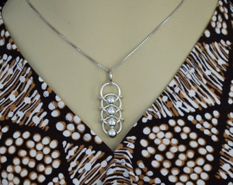 "925 Sterling Silver necklace.  Artisan designed.  ""Dragon Scales""  medium"