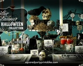 Printable Halloween Party Collection - DIY Printable Party Package - Do-it-Yourself Print Kit - Gothic Glamour Collection