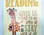Read children's room print - Giraffe from the safari series