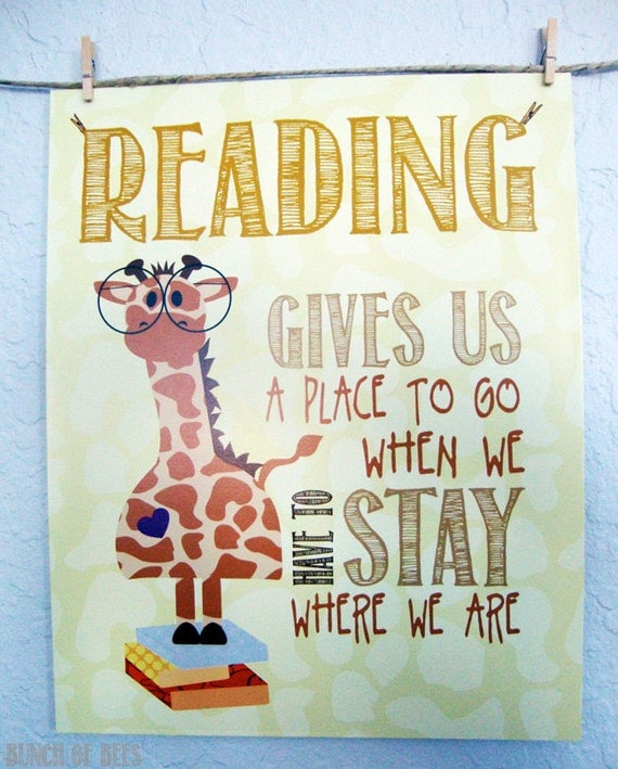 Items Similar To Read Children's Room Print