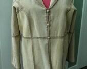 Womans Coat Suede Leather Vintage Size XL